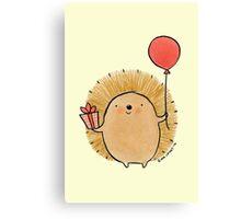 Happy Birthday Hedgehog Canvas Print