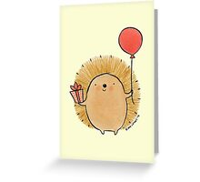 Happy Birthday Hedgehog Greeting Card