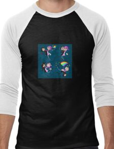 Funny siamese twins fairies. Men's Baseball ¾ T-Shirt