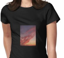 Clouds At the Jersey Shore Womens Fitted T-Shirt