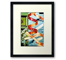 Holiday Red Ribbon Framed Print