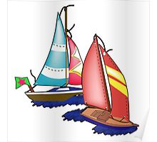 Sailboats Poster