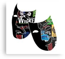 Theatre Masks Collage Metal Print