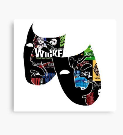 Theatre Masks Collage Canvas Print