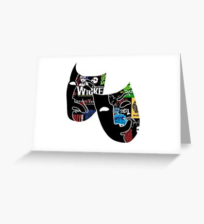 Theatre Masks Collage Greeting Card