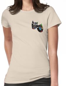 Theatre Masks Collage Womens Fitted T-Shirt