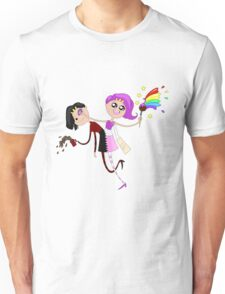 Funny siamese twins fairies. Unisex T-Shirt