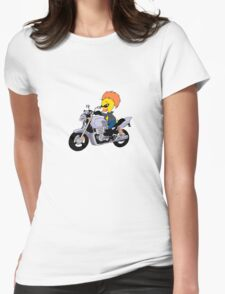 Cool motorcyclist ducky Womens Fitted T-Shirt