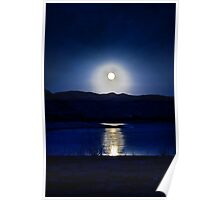 Full Moon at Flaming Gorge  Poster