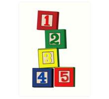 Toy Blocks Art Print