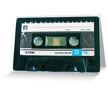 Cassette Tape Greeting Card