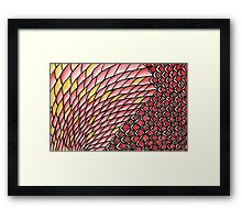 Wallpaper - Scales Framed Print