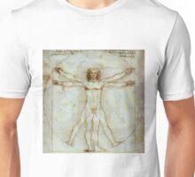 Vitruvian Man after da Vinci by Pierre Blanchard Unisex T-Shirt
