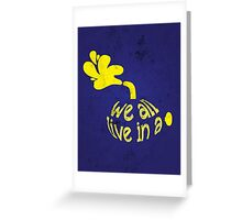 Yellow Submarine Greeting Card