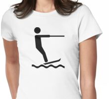 Water skiing Womens Fitted T-Shirt