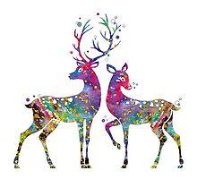 Deer Love Illustration Watercolor by bittermoon