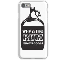 Why is the Rum Gone iPhone Case/Skin
