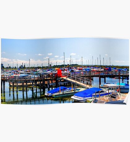 Small Boat Harbor Poster