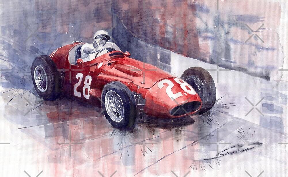 Maserati 250F GP Monaco 1956 Stirling Moss by Yuriy Shevchuk