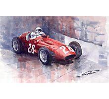 Maserati 250F GP Monaco 1956 Stirling Moss Photographic Print