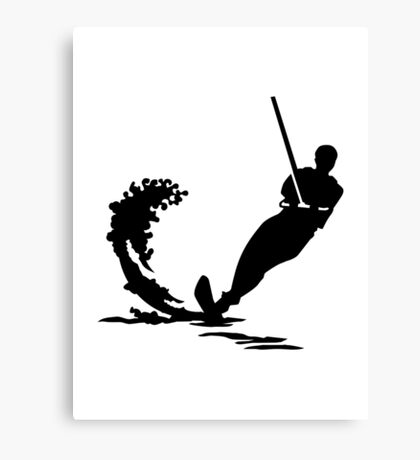 Water skiing Canvas Print