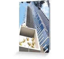 Blue Tower Greeting Card