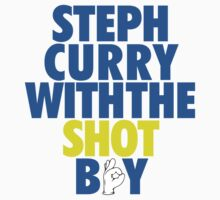 Steph Curry With The Shot Boy [With 3 Sign] Blue/Gold T-Shirt