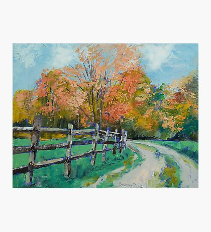 Old Country Road Photographic Print