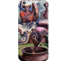 Painting of snake charmers iPhone Case/Skin
