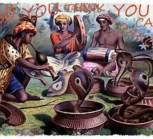 Painting of snake charmers by marmur