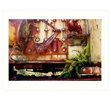Rusting Engine Art Print