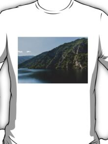 Steep Shores and Green Summer Light - a Mountain Lake Impression T-Shirt