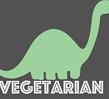 Vegetarian Dinosaur Logo by nemofish
