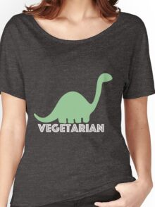 Vegetarian Dinosaur Logo Women's Relaxed Fit T-Shirt