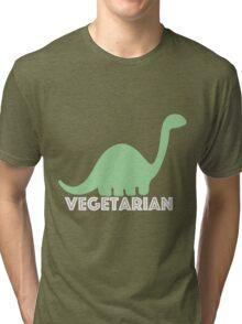 Vegetarian Dinosaur Logo Tri-blend T-Shirt