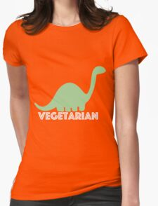 Vegetarian Dinosaur Logo Womens Fitted T-Shirt