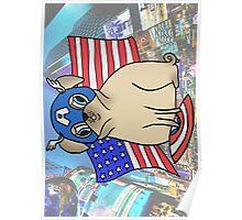 Captain America Pug Poster