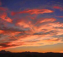 Rocky Mountains Front Range Sunset by Bo Insogna