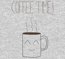 Coffee time orange  One Piece - Long Sleeve