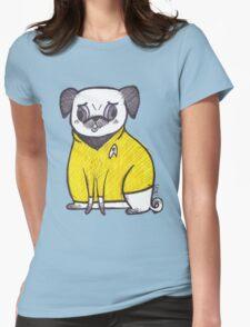Yellow Shirt - Pug Trek Womens Fitted T-Shirt