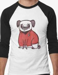 Red Shirt - Pug Trek Men's Baseball ¾ T-Shirt