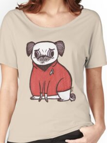 Red Shirt - Pug Trek Women's Relaxed Fit T-Shirt