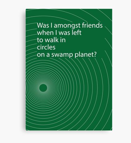 Hitchhikers' circle Canvas Print