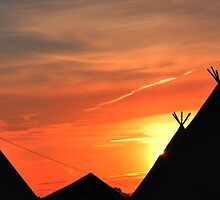 Glastonbury Tipi's by Steve Briscoe