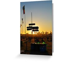 Lost at the Glastonbury Festival Greeting Card
