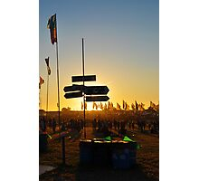 Lost at the Glastonbury Festival Photographic Print