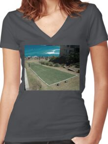 Level Playing Field, Sculptures By The Sea 2006 Women's Fitted V-Neck T-Shirt