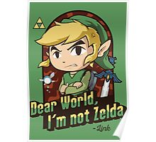 Dear World, I'm not Zelda Poster