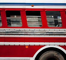 Red Bus, Antigua Guatemala by morealtitude
