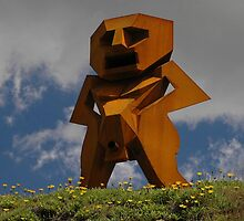 Rusty Man, Sculptures By The Sea, Australia 2010 by muz2142